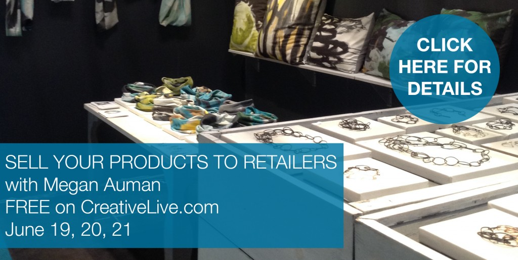 wholesale and booth design on Creative Live with megan auman
