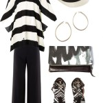 casual black and white resort look
