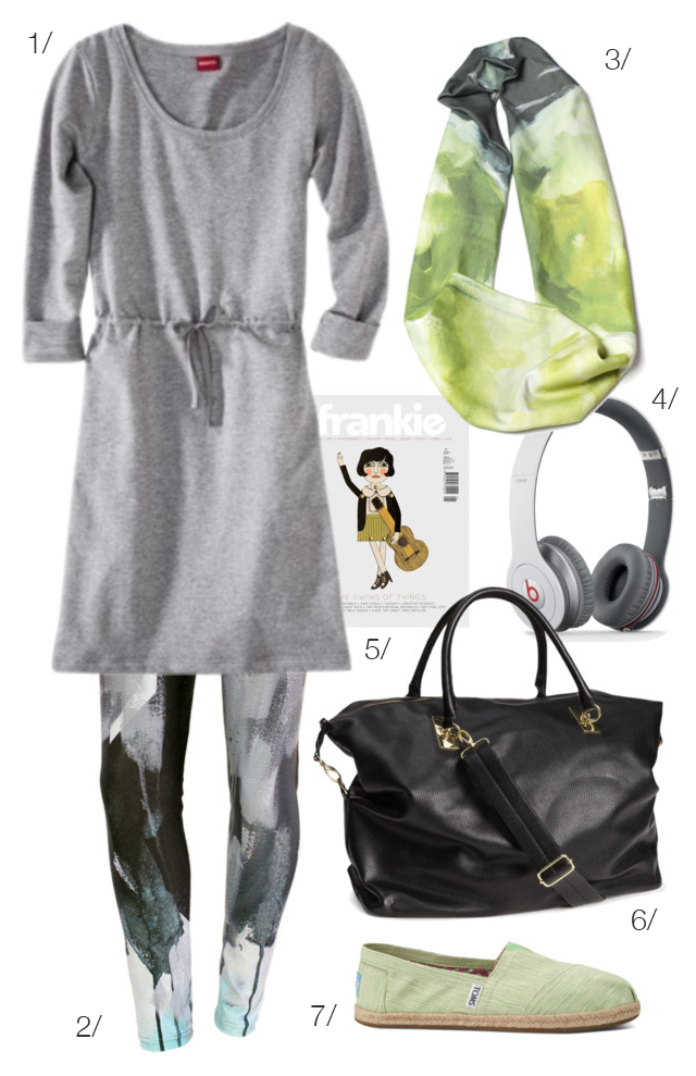 what to wear on an airplane via megan auman