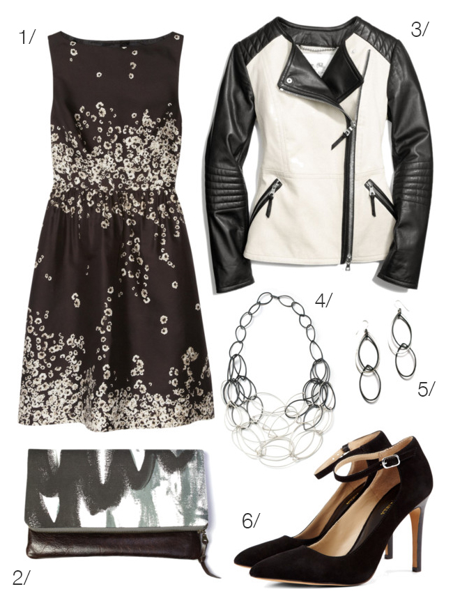 black and white - sweet and edgy - via megan auman