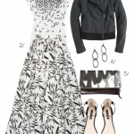 black and white ball skirt