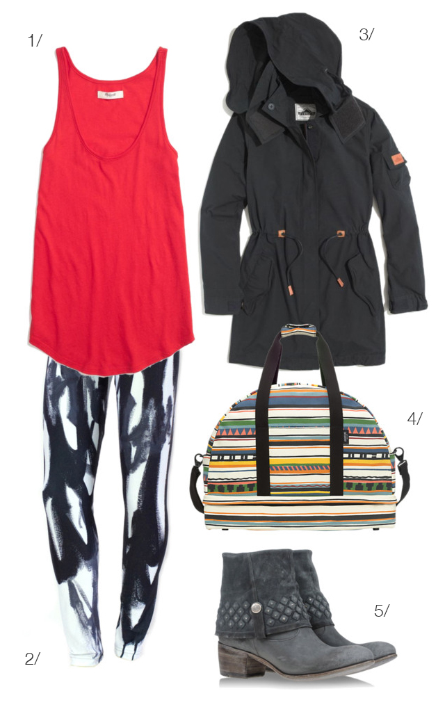 weekend getaway - blacks and brights  - via megan aumn