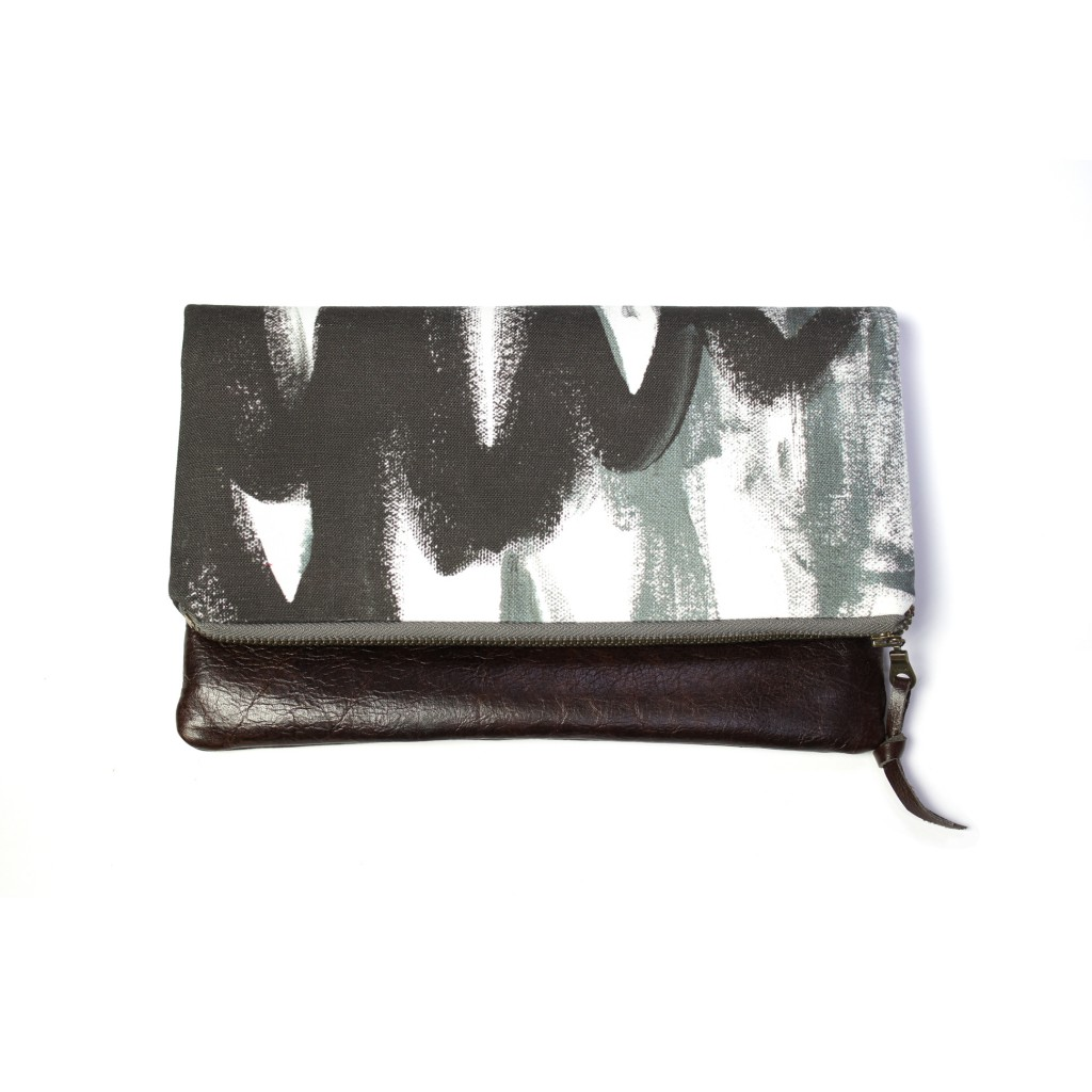 magpie foldover clutch by eclu and megan auman
