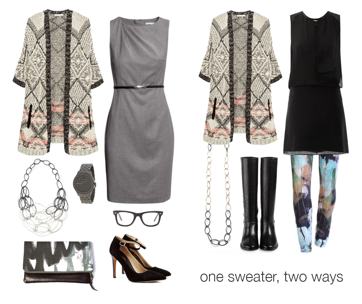 one sweater, two ways via megan auman