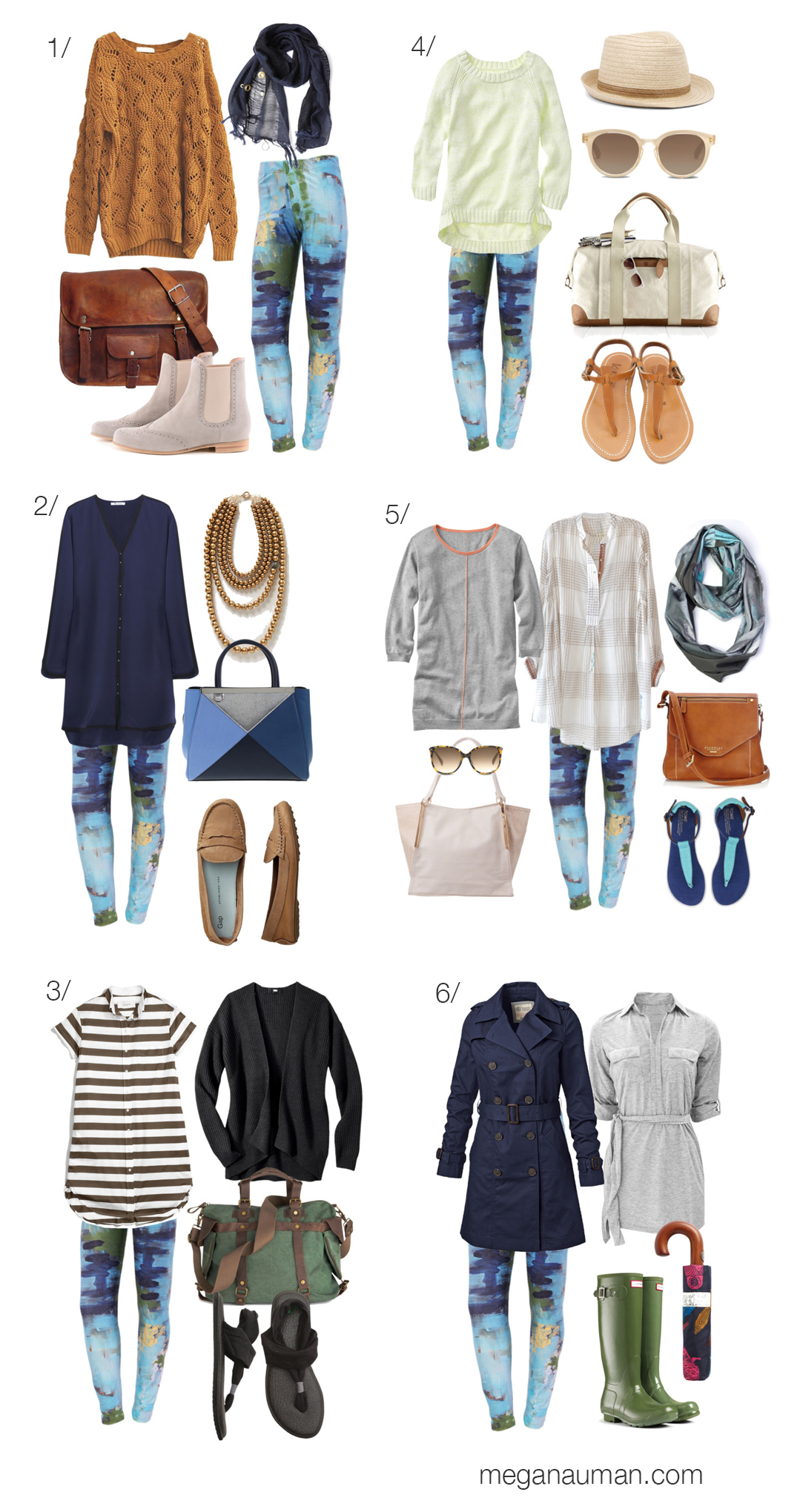 six ways to wear the remnant printed leggings by megan auman