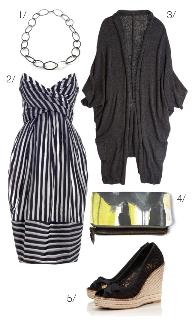 pinstripe dress for date night via megan auman