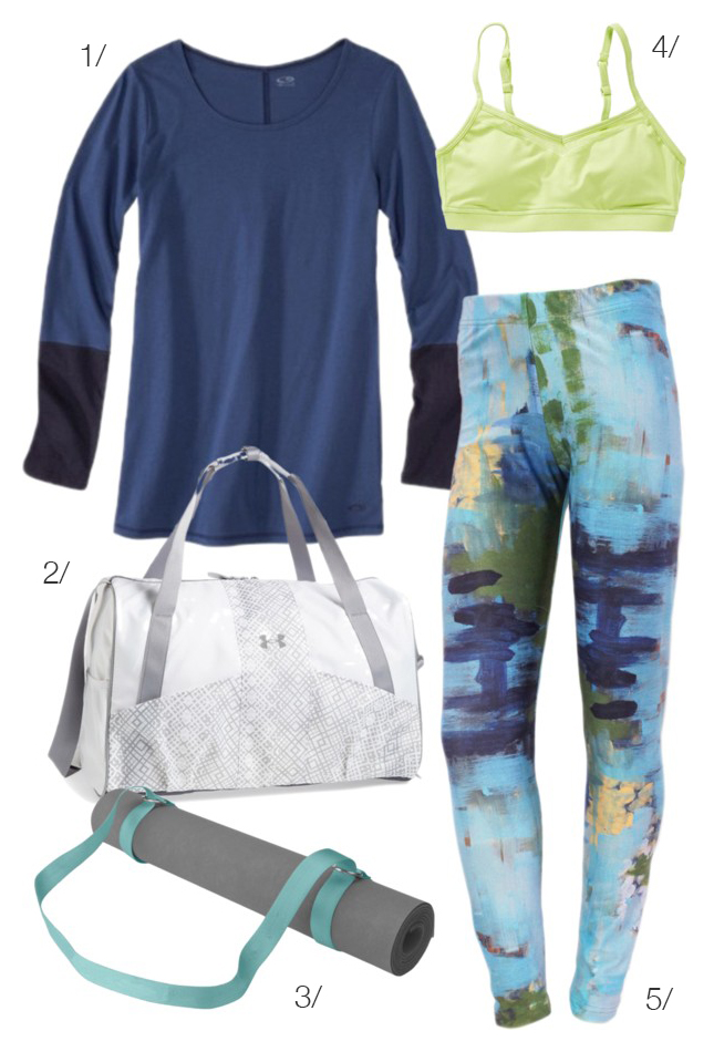 sunday morning yoga featuring printed leggings by megan auman