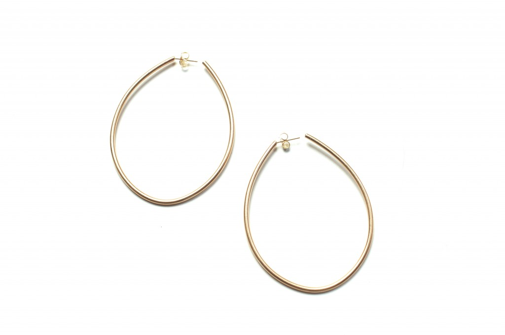 droplet hoop earrings by megan auman - click to see the outfit