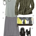 military jacket and maxi skirt