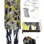 mixed prints – yellow, black, and white