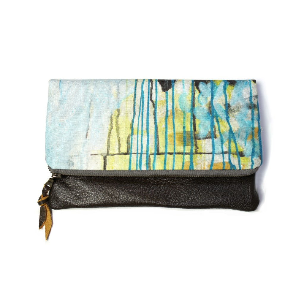 saturday morning foldover clutch by eclu and megan auman