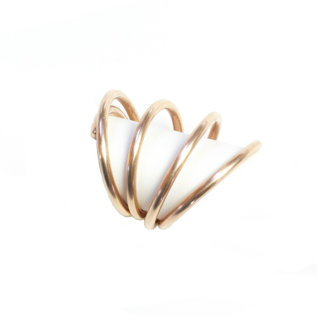 sequence ring - bronze statement ring by megan auman