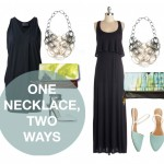 one statement necklace, two ways: little black dress edition