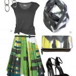 spring street style inspired: statement skirt