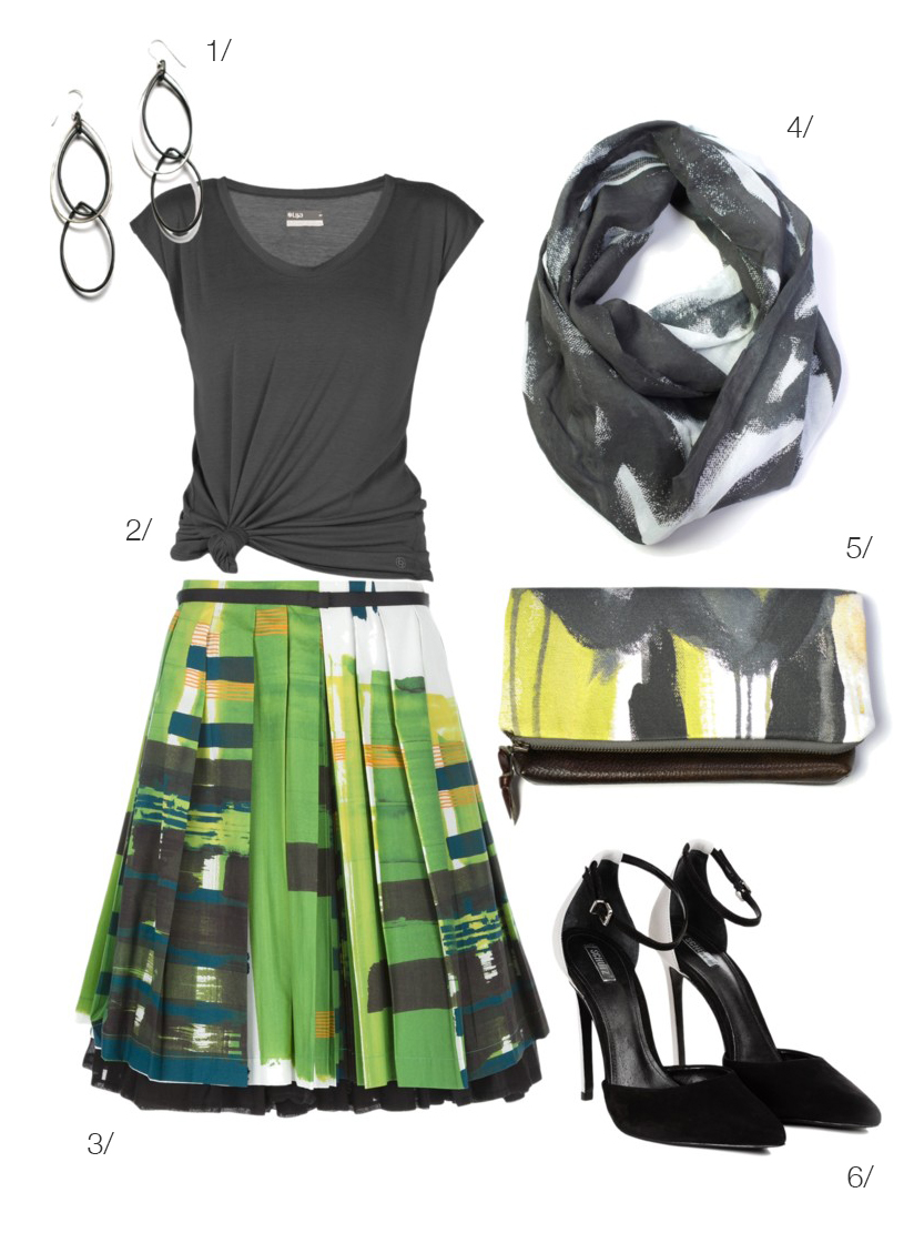 street stye inspired: abstract print statement skirt via megan auman