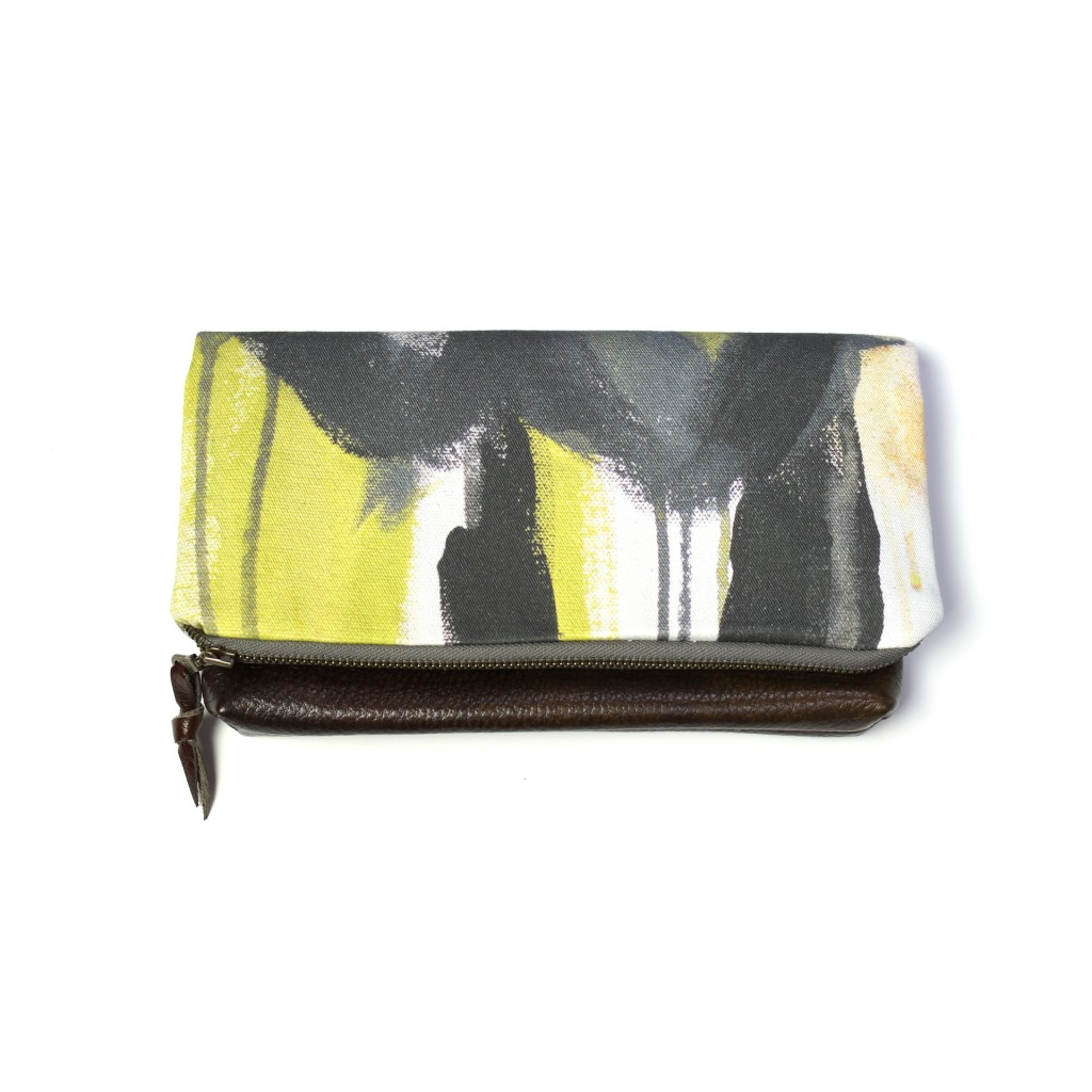 wings foldover clutch by megan auman