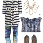 real world outfit: artsy meets preppy