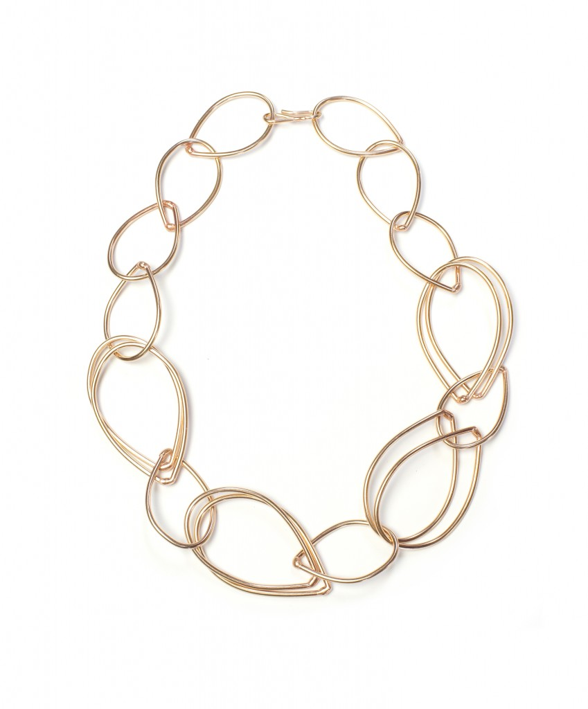 amy necklace - bronze chunky (yet sophisticated) link necklace by megan auman