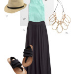 easy summer style – simple pieces and a statement necklace