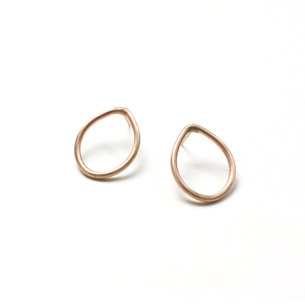 droplet post earrings - bronze post earrings by megan auman