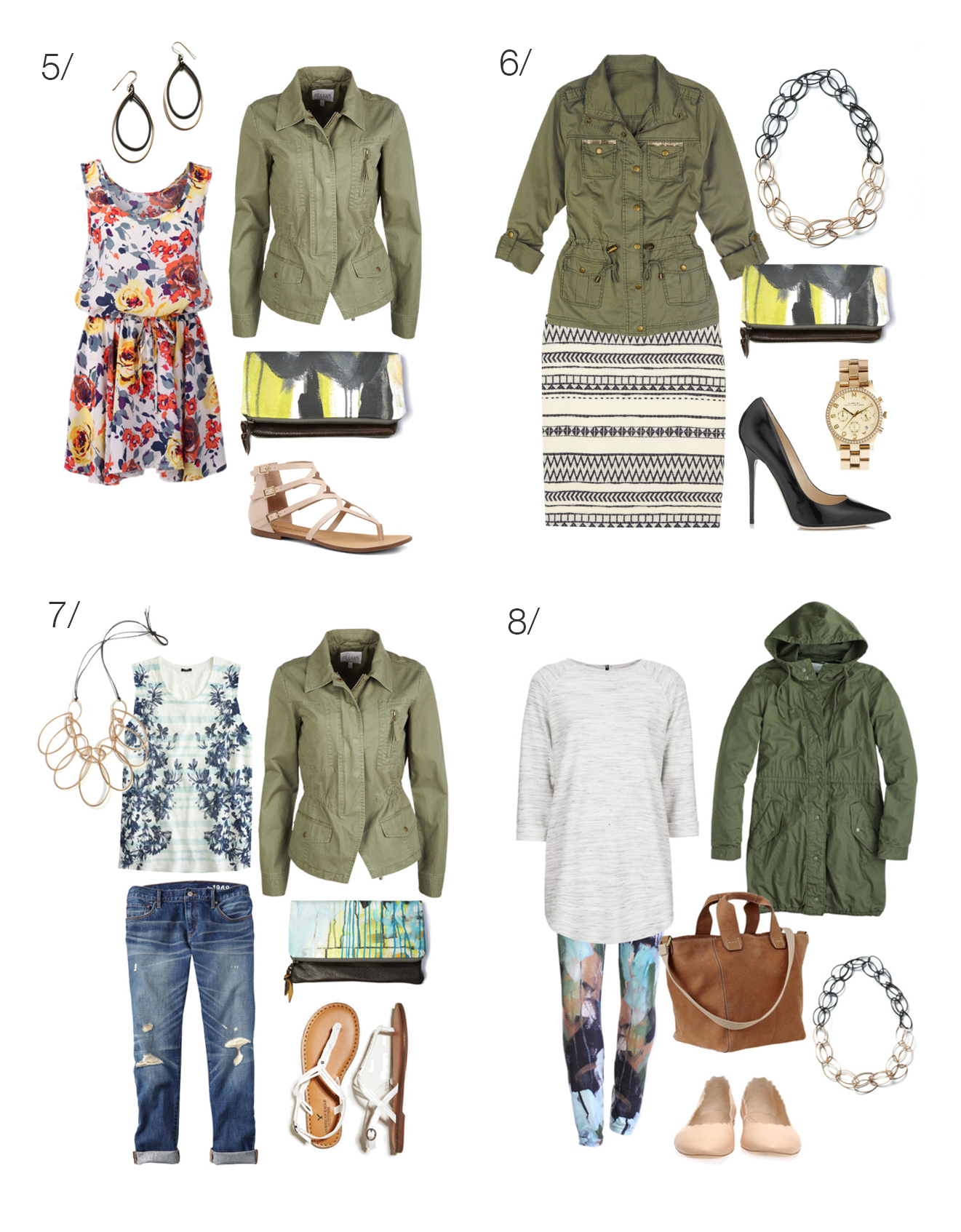 8 ways to wear a military jacket via megan auman