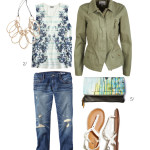 casual style: military jacket and boyfriend jeans