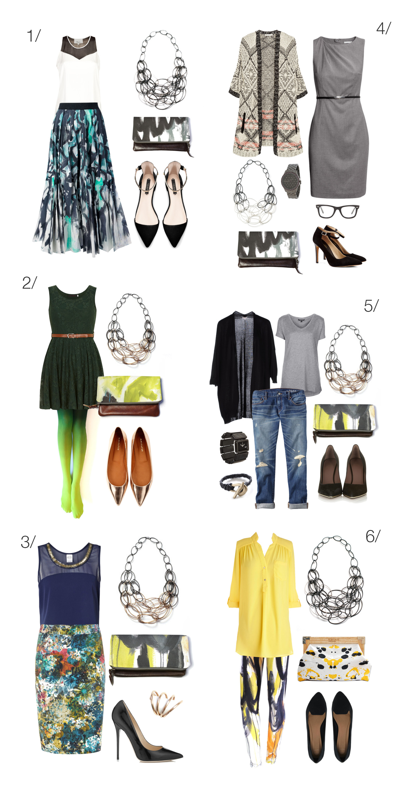 what to wear with a statement necklace via megan auman