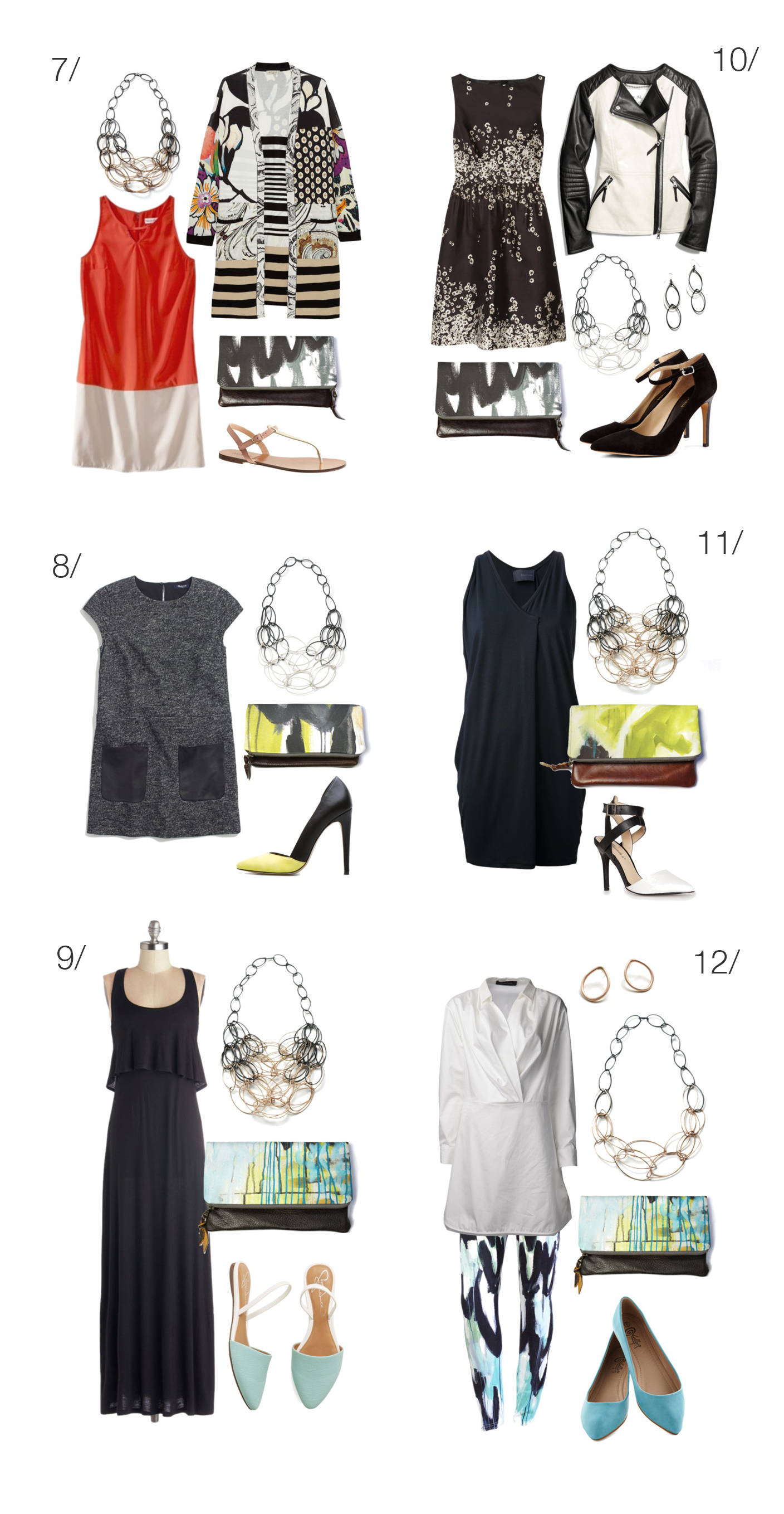 what to wear with a statement necklace - 12 outfit ideas - via megan auman