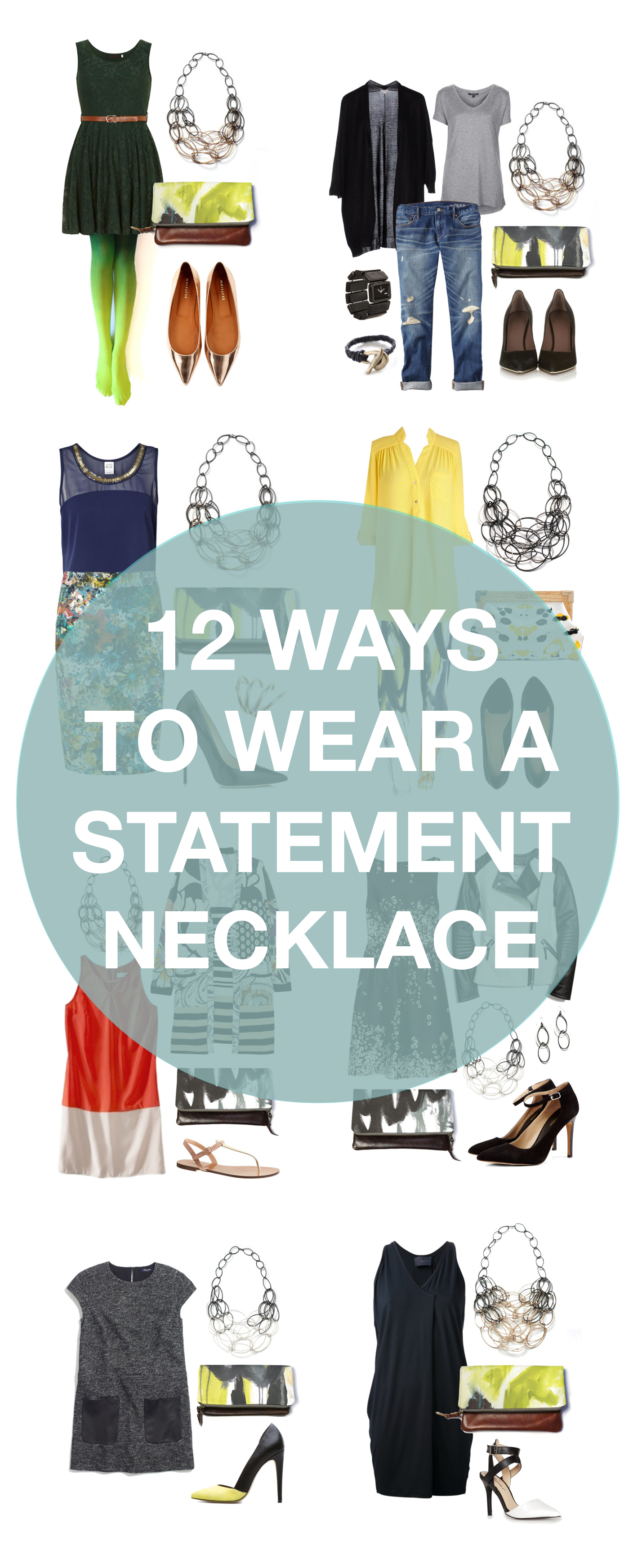 how to wear a statement necklace // 12 outfits that look better with a statement necklace via megan auman