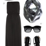how to wear black in summer: seaside sophistication