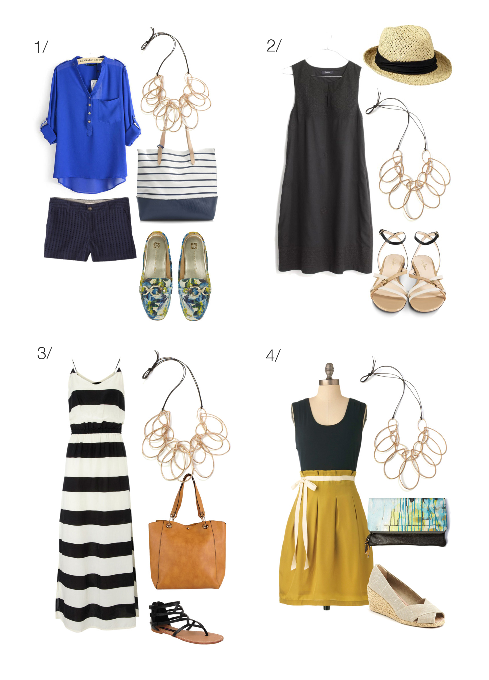 summer style: eight ways to wear a statement necklace // click for outfit details