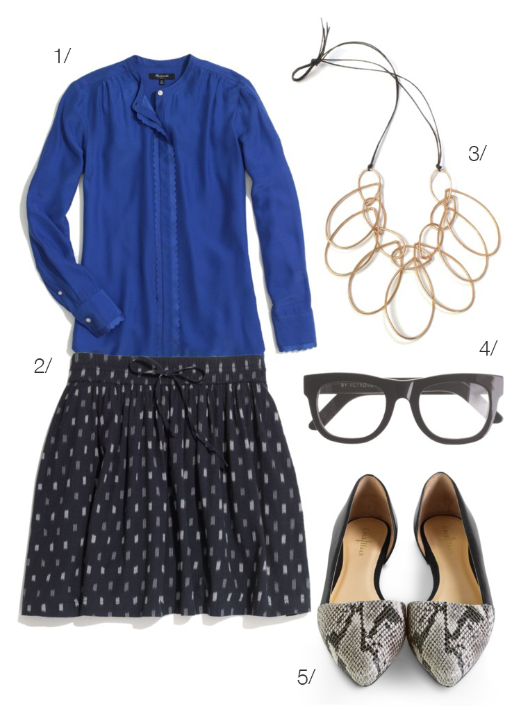 what to wear to work: summer office style // featuring the melissa statement necklace by megan auman // click for outfit details
