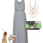 summer style: maxi dress and statement necklace