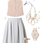 summer office style: blush, bronze, and grey