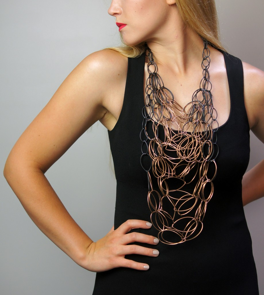 dramatic statement necklace by megan auman