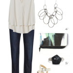 a casual yet pulled together look for your next night out
