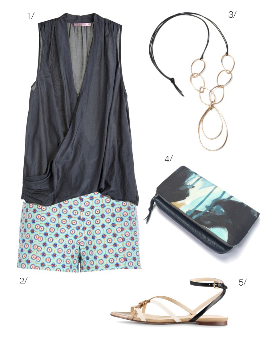 how to dress up shorts // summer style // click for outfit details