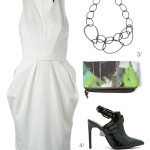 an edgier take on the little white dress trend