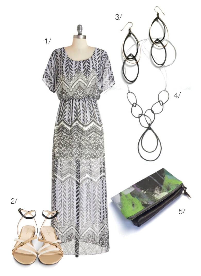 a lovely outfit for an outdoor estate wedding or party // click for outfit details