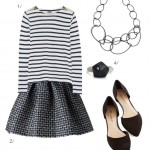wandering paris in black, white, and navy