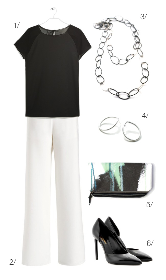 white pants and black accessories perfect for work // click for outfit details // #workwear