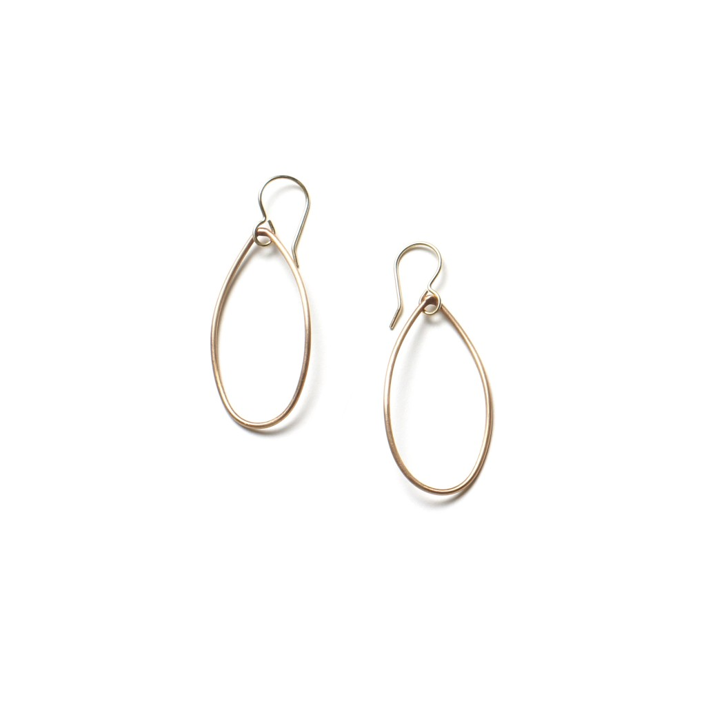 gabrielle earrings in bronze with 14kt gold-filled ear wires