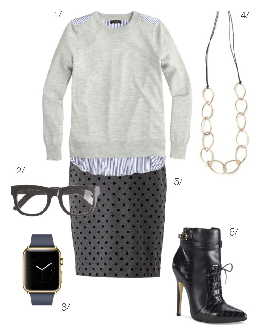 this look for work mixes more conservative pieces with an edgier shoe // click for outfit details