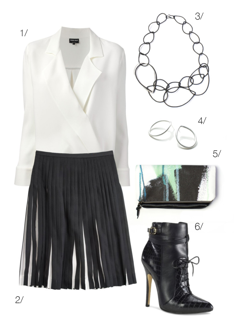 black and white #girlboss style // click for outfit details #workwear
