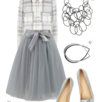 winter wonderland style: flannel and tulle