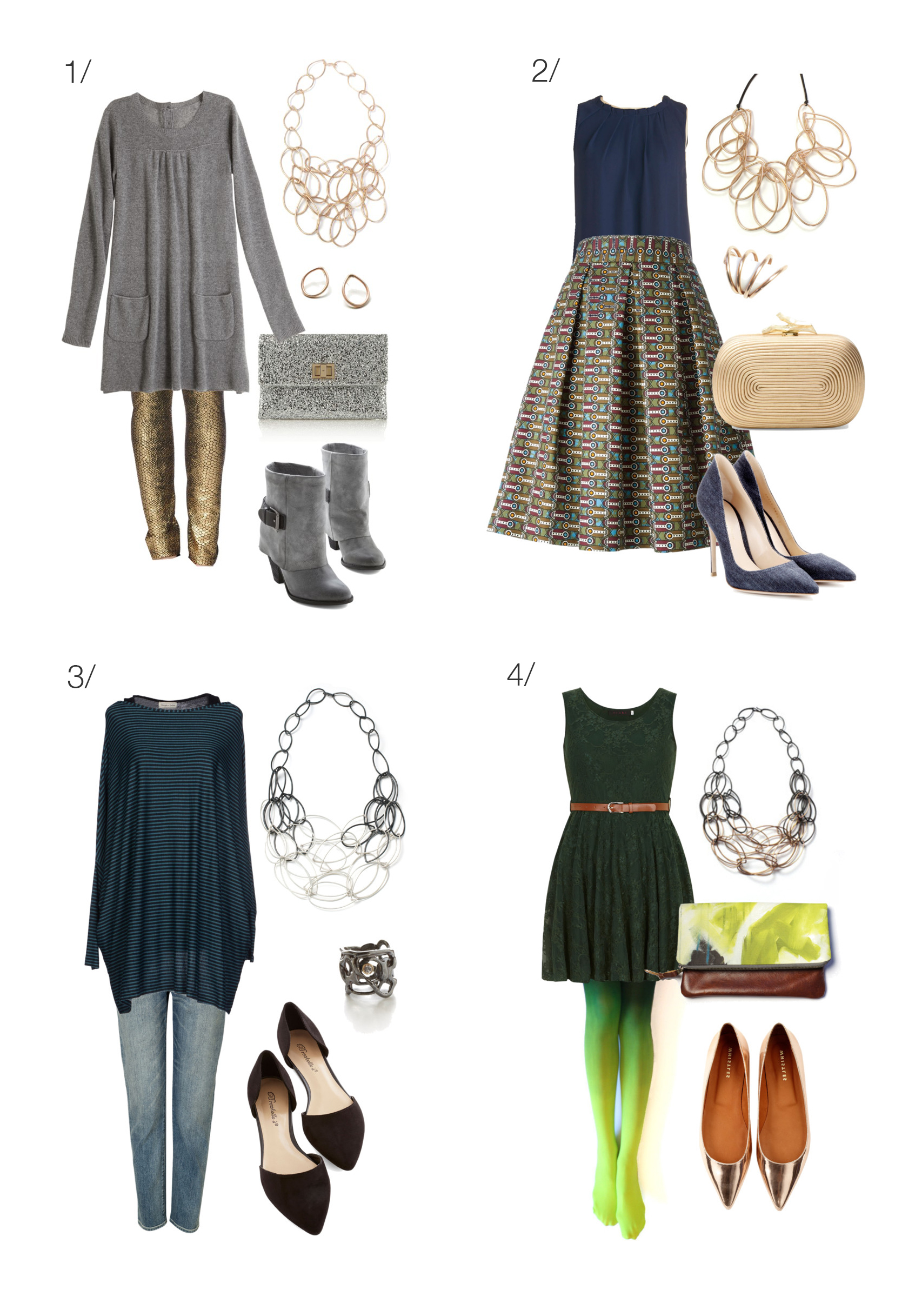 eight outfit ideas for your next holiday party // Click for outfit details.