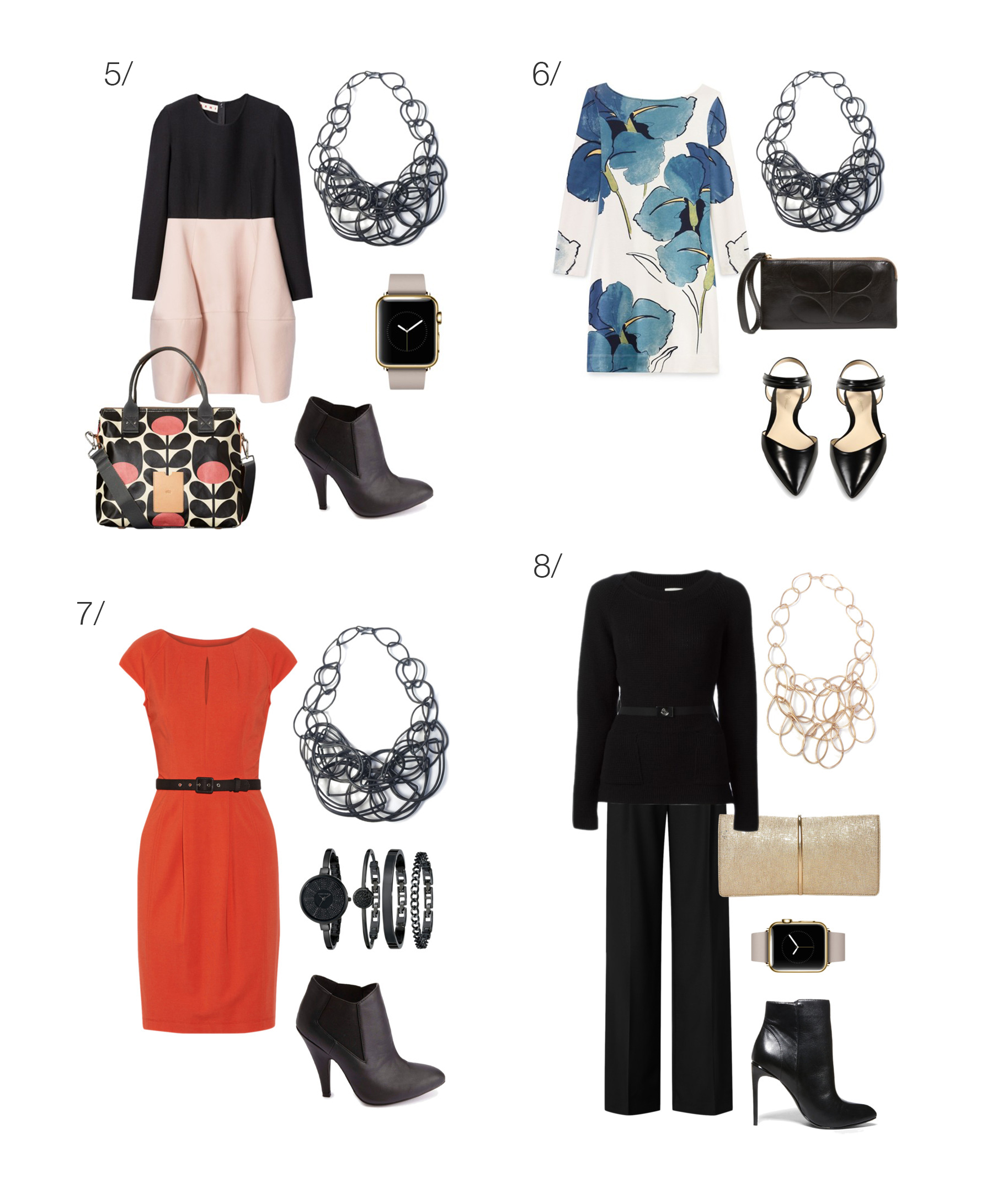 8 ways to wear a statement necklace to work // click for outfit details
