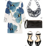 how to wear a bold pattern with a bold necklace