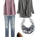 a comfy way to dress up distressed denim