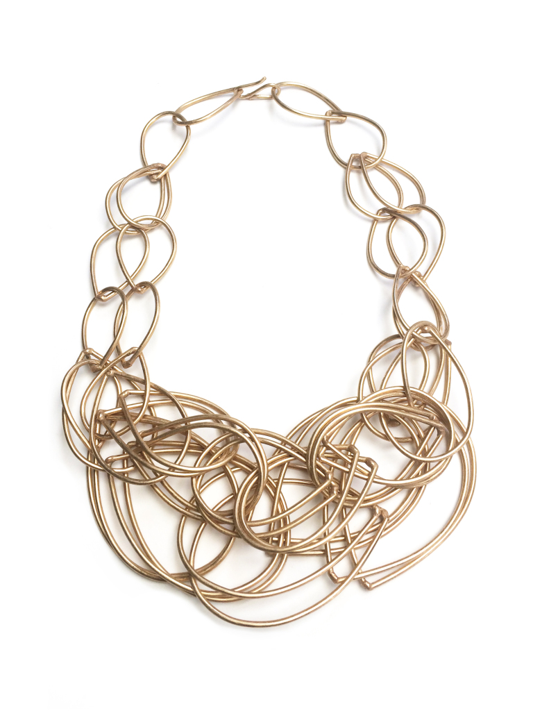 the karen necklace - bronze chunky chain link statement necklace